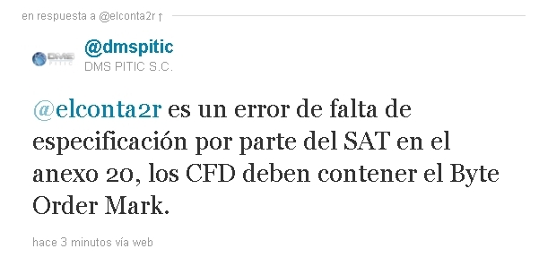 Error: CFD no codificado en: UTF-8 -Comentarios-